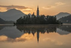 Photograph Mystical Sunrise over Lake Bled by Aleš Krivec on 500px