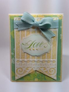 Courtney Lane Designs: Love you card made using the NEW Pretty Pennants cartridge