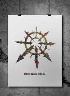 Chaos Star 1 Warhammer Printable Poster by ZsaMoDesign Warhammer 40k Art, Space Marine, Monster, Larp, Tattoo Ideas, Sci Fi, Banner, Geek Stuff, Miniatures