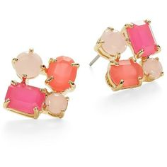 36a141a28f5e7 Kate Spade New York Cluster Stud Earrings ( 68) ❤ liked on Polyvore  featuring jewelry