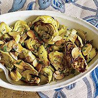 Round out your meal with artichokes sautéed in <i>aglio e olio</i>, an Italian duo of garlic and olive oil.