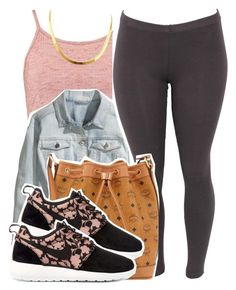"""""""3/8/16"""" by xtaymaxlovesxmisfitx ❤ liked on Polyvore featuring Boohoo, H&M, MCM and NIKE"""