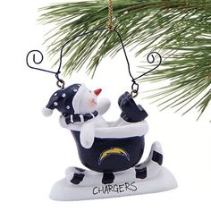 San Diego Chargers All-Star Light Up Snowman Ornament