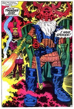 Marvel's Jack Kirby, Walt Simonson and Jason Aaron All Influenced Thor: Ragnarok.-- Marvel's Jack Kirby, Walt Simonson and Jason Aaron All Influenced Thor: Ragnarok – IGN Comic Book Pages, Comic Book Artists, Comic Artist, Comic Books Art, Thor, Dc Comics, Jack Kirby Art, 70s Sci Fi Art, Classic Comics