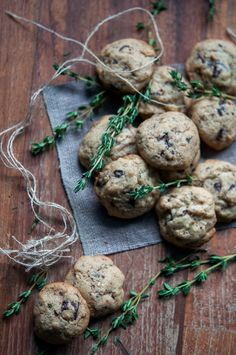 Thyme and fleur de sel chocolate chip cookies