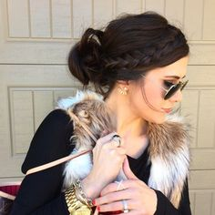 Fluffy cream & tan fur vest