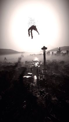 Infamous: Second Son XD He looks like he's being raised by the heavenz... Go my angel child! Go! -Will