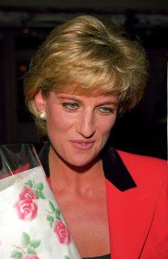 Princess Diana on a rainy day