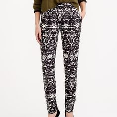 adorable ikat pants very comfy can be dressed up or down easily - only worn once! J. Crew Pants Trousers