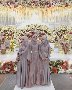 brides maid dresses hijab Dress Gaun Bridesmaids H - bridesmaiddresses Kebaya Muslim, Kebaya Hijab, Kebaya Dress, Muslim Dress, Kebaya Modern Hijab, Hijab Gown, Hijab Evening Dress, Hijab Dress Party, Turban Hijab