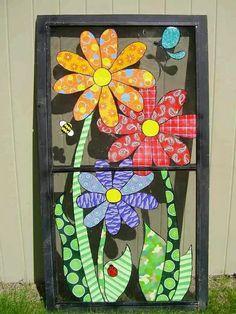 33 Ideas Screen Door Repurpose Window Panes For 2019 Painted Window Screens, Old Window Screens, Window Art, Window Panes, Window Ideas, Art Installation, Old Windows, Vintage Windows, Barn Windows