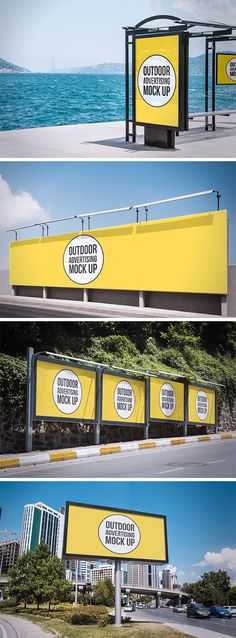 Outdoor Advertising MockUps | GraphicBurger