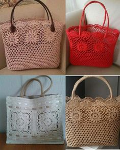 Handmade Bags, Straw Bag, Tote Bag, Creative, Toque, Collection, Couture, Google, Crochet Bag Patterns