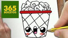 Rocky the rubish 365 Kawaii, Chibi Kawaii, Kawaii Doodles, Cute Easy Drawings, Cute Kawaii Drawings, Beautiful Drawings, Doodle Drawings, Cartoon Drawings, Doodle Art