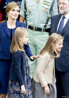 Spanish Royals attended the Spanish National Day military parade (Dia de la Hispanidad) at Canovas del Castillo Circus on October 12, 2015 in Madrid, Spain.
