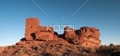 image of a rock formation against clear sky. - Low angle view of a rock formation against clear sky.