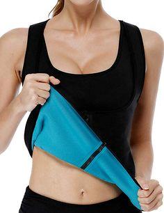 2411a3ff1e NonEcho Women Sauna Body Shaper Sweat Suit Sleeve Spa Cami Hot Neoprene  Slimming Workout Vest Weight