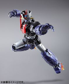 """Mazinger Z as he appears in the new theatrical film """"Mazinger Z / INFINITY"""" inspires this incredible Metal Build figure from Bandai! Combattler V, Big Robots, Japanese Robot, Japanese Superheroes, Vintage Robots, Frame Arms Girl, Gundam Custom Build, Robot Girl, Sci Fi Armor"""
