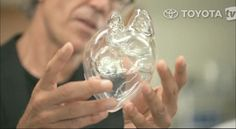 Hand-blown glass organs demonstrated the fragility of human life and the steps that Toyota takes to protect it.