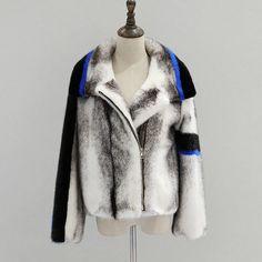 front Fur Jacket, Fur Coat, Bomber Jacket, Merian, Fur Clothing, Mink Fur, Refashion, Long Sleeve, Womens Fashion