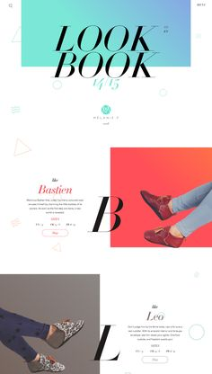 Beautiful parallax scrolling lookbook style One Pager promoting Mélanie F's new 2014/15 slipper range for children. The design is by Lionel Durimel whose portfolio we featured in our Top 20 One Page Websites from 2014.