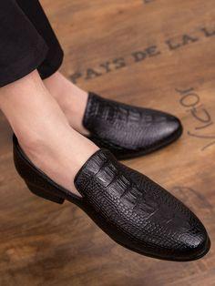 Hommes Chaussures Habill/ées en Cuir Slip sur Mocassins Mocassins Bout Pointu Travail De Bureau Casual Oxford Business