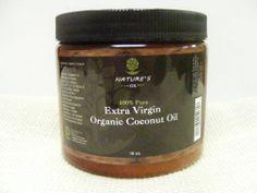 Nature's Oil 100% Pure Extra Virgin Organic Coconut Oil 16oz - http://goodvibeorganics.com/natures-oil-100-pure-extra-virgin-organic-coconut-oil-16oz/