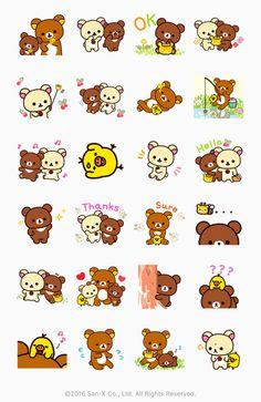 New #Rilakkuma #Kogumachan Line stickers *\(^o^)/*