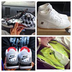 Nike Foamposite Fighter Jet, Nike Undftd Bring Back Dunk, Jordan III Retro, Jordan Spizike BHM #sneakers #sneakerhead