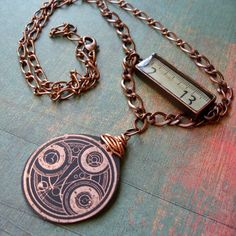 Timelord Necklace. I may need to have this.
