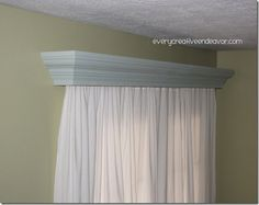 Painted Wooden Valance {Tutorial}