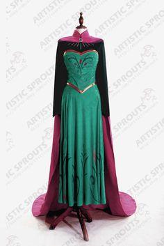 Exclusive Disney Movies Frozen Snow Queen Elsa adult cosplay costume