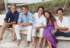 Bobby, Anthony, Mark, Maria, and Tim Shriver, photographed in Hyannis Port, Massachusetts.