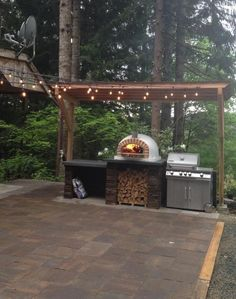 Outdoor pizza oven fireplaceOutdoor pizza oven fireplace options and ideas HGTVPIZZAIOLI PIZZA OVEN ** BEST SELLER ** Patio with outdoor kitchen, pizza oven and bar, Weston, CT .Patio with outdoor kitchen,
