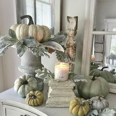 See my favorite farmhouse fall decor ideas. Part one is all about fall home decor inside. On a table or in a three-tier stand. DIY fall decor for anyone!