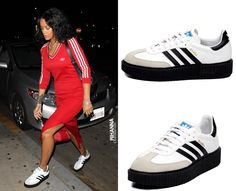 low priced 016c6 8218d Rihanna just knows what to love in Adidas, awesome creepers, im so in love  again!