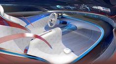 Wie ein leichter Flügel schwingt sich die Instrumententafel im Vision Mercedes-Maybach 6 über die Türverkleidung in die Sitzlandschaft.
