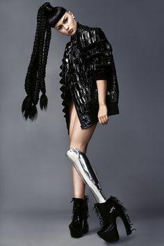 United Nude x Iris Van Herpen Voltage shoes as seen in Phoeinix Magazine shooting with VIKTORIA MODESTA
