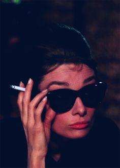 Audrey Hepburn as Holly Golightly in Breakfast at Tiffanys