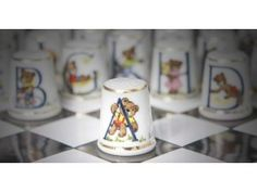 China thimble - Teddy ABC / Letter A