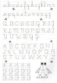 Alfabeto Pontilhado E Numerais Pontilhados Exercicios De