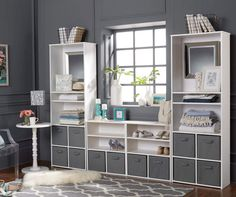Ameriwood 3 Shelf White Cube Organizer | Big Lots