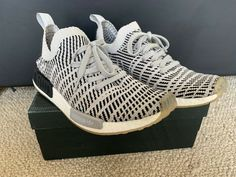cd123d5ec Adidas NMD R1 STLT PK Primeknit Boost Grey Two One Core Black White CQ2387   fashion  clothing  shoes  accessories  mensshoes  athleticshoes (ebay link)