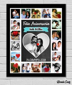 Bf Gifts, Love Gifts, Photos Colage, Best Friend Birthday Cards, Ideas Aniversario, Cute Couple Gifts, Family Collage, Photo Wall Decor, Collage Design