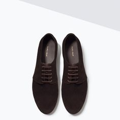 Image 3 of SOFT LEATHER CUTWORK BLUCHERS from Zara