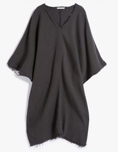 Origami Dress Charcoal By Black Crane