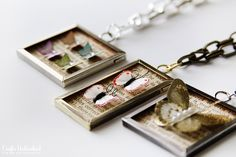 Easy DIY Butterfly Specimen Pendants