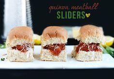 Quinoa Meatball Sliders.