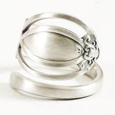 Vintage Victorian Pierced Sterling Silver Spoon Ring by Spoonier