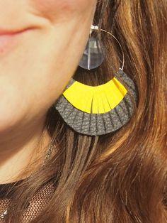 DIY boucles d'oreilles à franges en simili-cuir